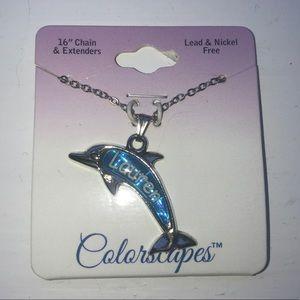 "Jewelry - Dolphin Necklace Monogram name ""Lauren"""